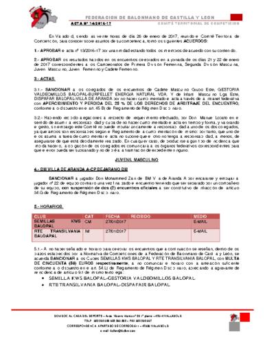 ACTA territorial 14