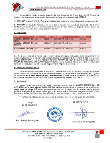 ACTA territorial 15