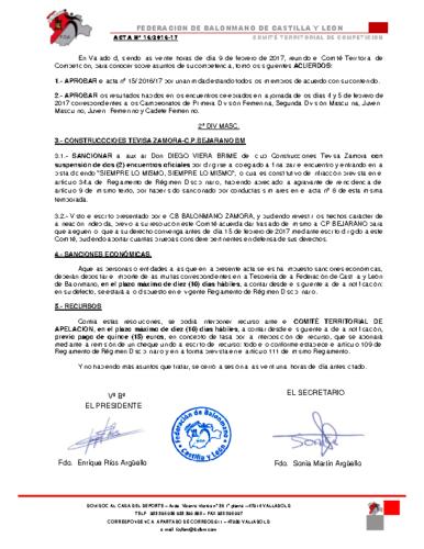 ACTA territorial 16
