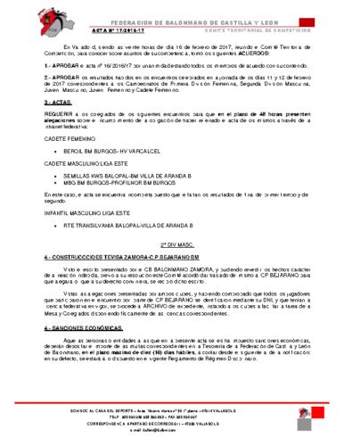 ACTA territorial 17