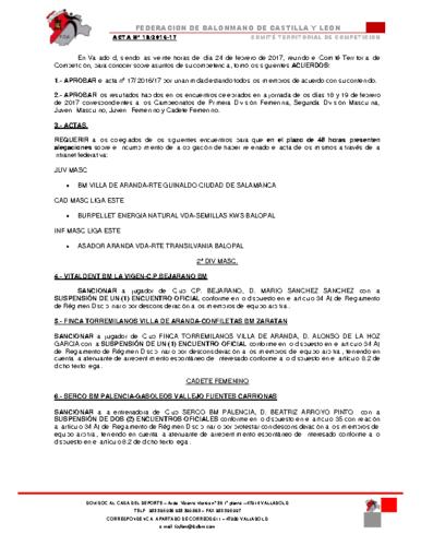 ACTA territorial 18
