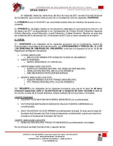 ACTA territorial 19