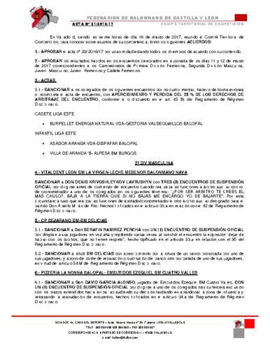 ACTA territorial 21