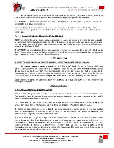 ACTA territorial 22