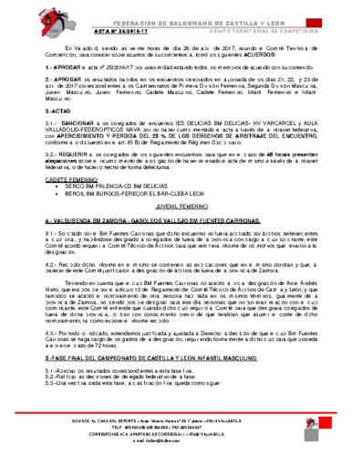 ACTA territorial 26
