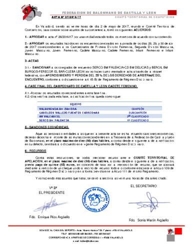 ACTA territorial 27