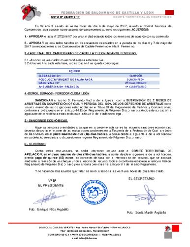 ACTA territorial 28