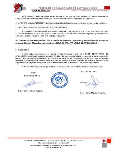 ACTA territorial 29