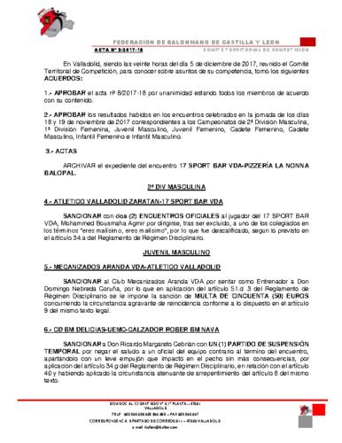ACTA Nº 9.