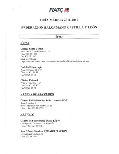 Cuadro Medico FIATC