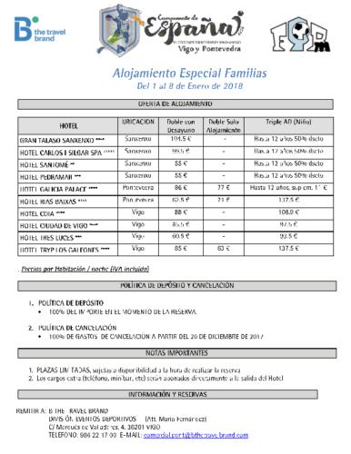 Oferta Alojamiento Familias CESABM Galicia 2018