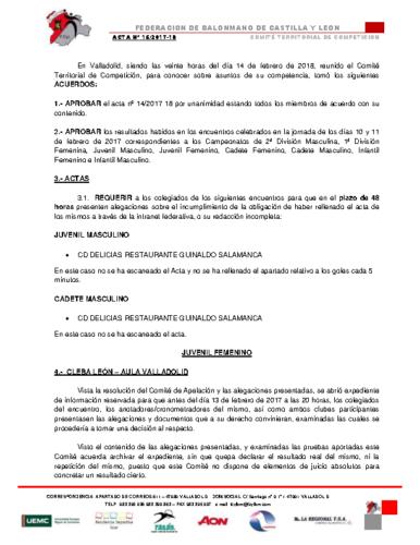ACTA Nº 15