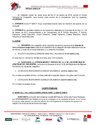 ACTA Nº 16