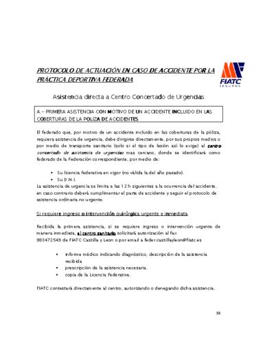 PROTOCOLO EN CASO DE ACCIDENTE