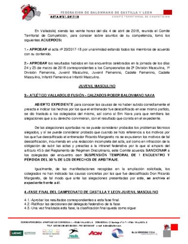 ACTA Nº 21
