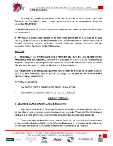 ACTA Nº 23