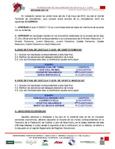 ACTA Nº 25