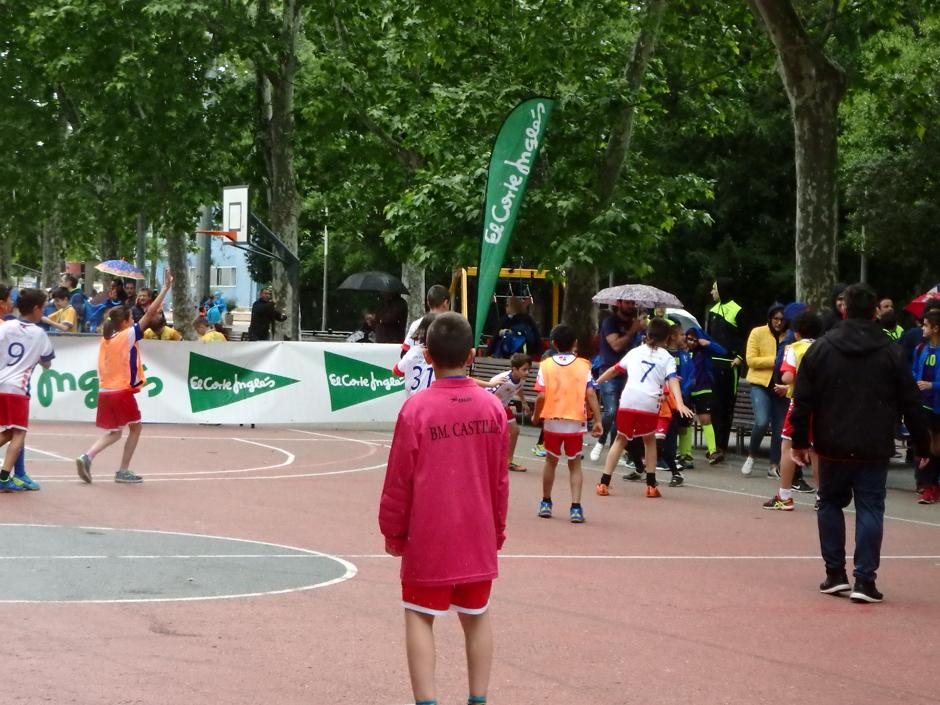 Balonmano en la calle en Valladolid.