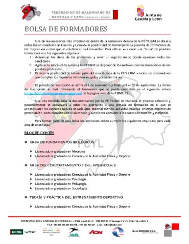 BOLSA DE FORMADORES