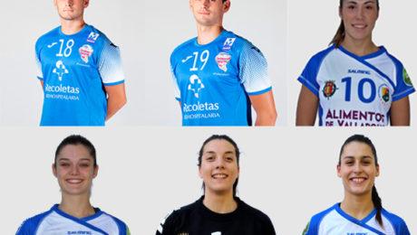 Foto de los seis jugadores seleccionados de Castilla y León.