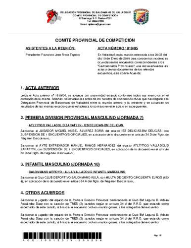 ACTA 5 DELEGACION PROVINCIAL VALLADOLID