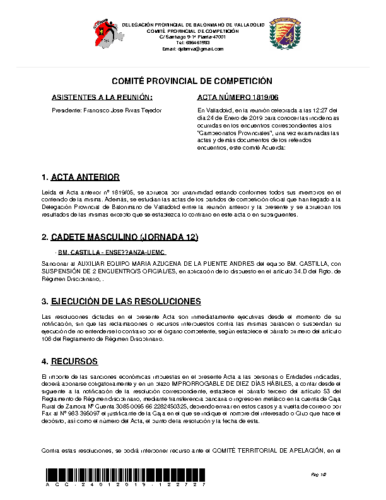 ACTA 6 DELEGACION PROVINCIAL VALLADOLID