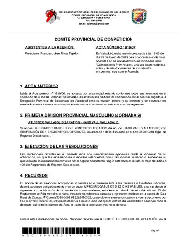 ACTA 7 DELEGACION PROVINCIAL VALLADOLID