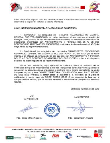 ANEXO AL ACTA 8-2018-19