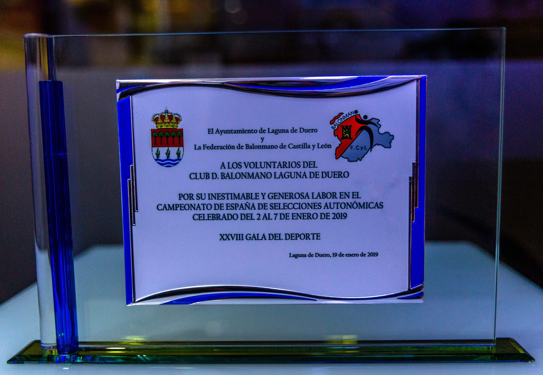 Placa de reconocimiento al BM Laguna