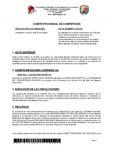 ACTA 10 DELEGACION PROVINCIAL VALLADOLID