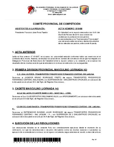 ACTA 8 DELEGACION PROVINCIAL VALLADOLID