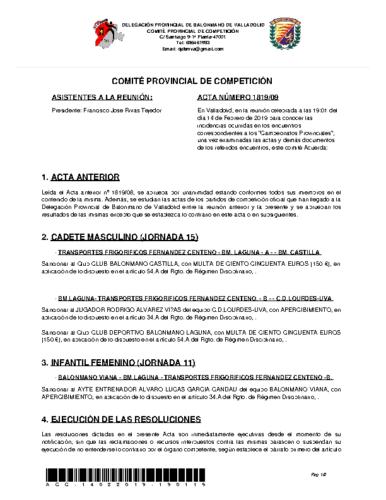ACTA 9 DELEGACION PROVINCIAL VALLADOLID
