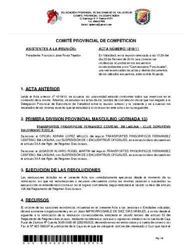ACTA 11 DELEGACION PROVINCIAL VALLADOLID