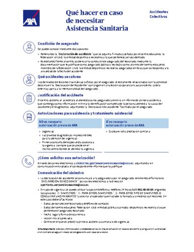 Protocolo de actuacion en caso de accidente AXA