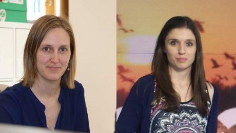 Rebeca Pasalodos y Laura Cembranos
