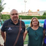 Juan de Arriba, Xavi Ramos (Club Bm.Palencia Femenino), Patricia Donis y Fernando López (Club Deportivo Balopal)