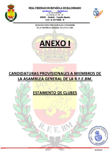 Candidaturas Provisionales por Estamentos 26-06-20 con cuño