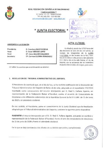ACTA NUM.11 – 17.07.2020