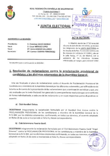 ACTA NUM. 5. 01.07.2020