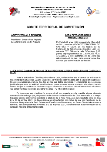 ACTA EXTRAORDINARIA 01