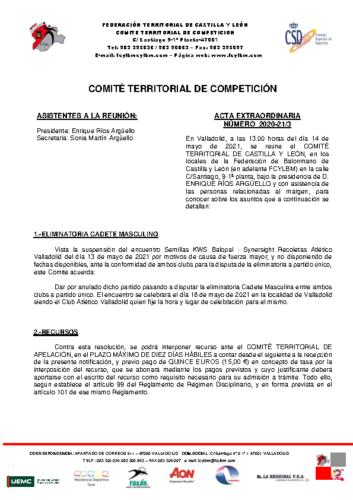 ACTA EXTRAORDINARIA 03