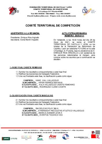 ACTA EXTRAORDINARIA 04